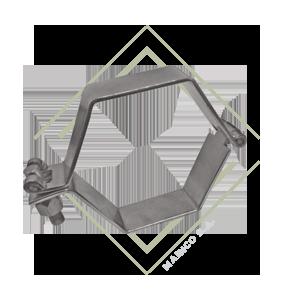 abrazadera para tubo, soporte para tubo, soporte hexagonal, abrazadera hexagonal, abrazadera cuadrada, abrazadera acero inoxidable, soporte acero inox