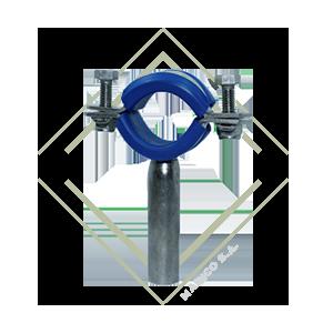 abrazadera redonda para tubo, soporte redondo para tubo, soporte de acero inoxidable, abrazadera de acero inoxidable, abrazadera con hule, abrazadera