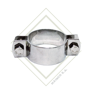 abrazadera redonda para tubo, soporte redondo para tubo, soporte de acero inoxidable, abrazadera de acero inoxidable