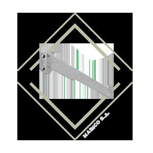 base, pared, tubo, vidrio, fija, tarugo, acero, inox, guatemala, mainco
