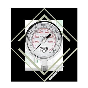 manometro pfp para medir presion de acero inoxidable, manometro para presion acero inox winters, manometro presion variable acero inox