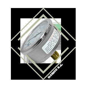 manometro para medir presion pfq inox bronce, manometro presion acero inoxidable bar