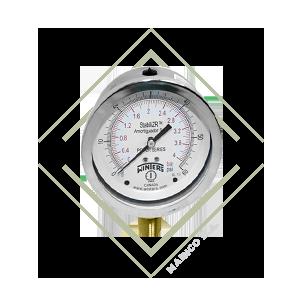 manometro, pfq, industrial, inox, bronce, winters, guatemala, mainco, presion, psi, inoxidable, acero, proceso,stabilizr, antivibracion, vibracion