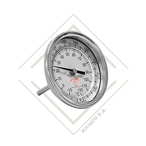 termometro, tbm, bimetalico, inox, inoxidable, acero, temperatura, rango, centigrados, farenheit, mainco, guatemala, winter