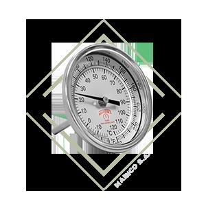 termometro, bimetalico, acero, inox, inoxidable, temperatura, rango, farenheit, centigrados, calderas, hornos, mainco, guatemala, winters,