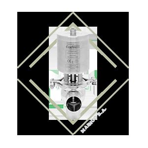 valvula diversora dxc3, ll, valvula multivias, valvula de acero inoxidable, valvula para alimentos, valvula para farmacos, valvula para laboratorios,