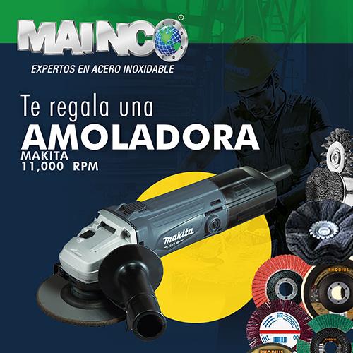 Aprovecha, esta vez MAINCO te regala una amoladora Makita  11,000 RPM