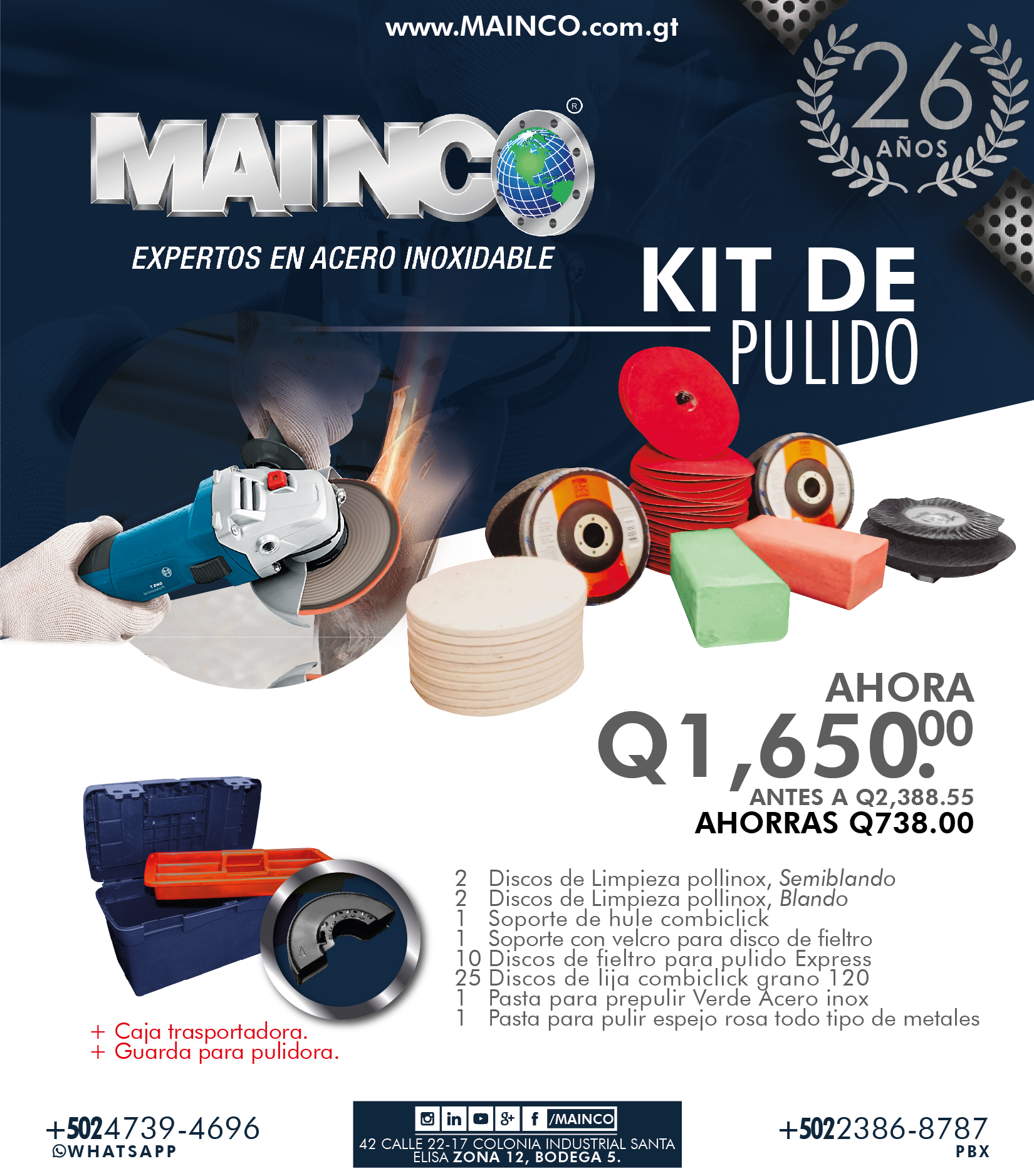Kit de pulido MAINCO