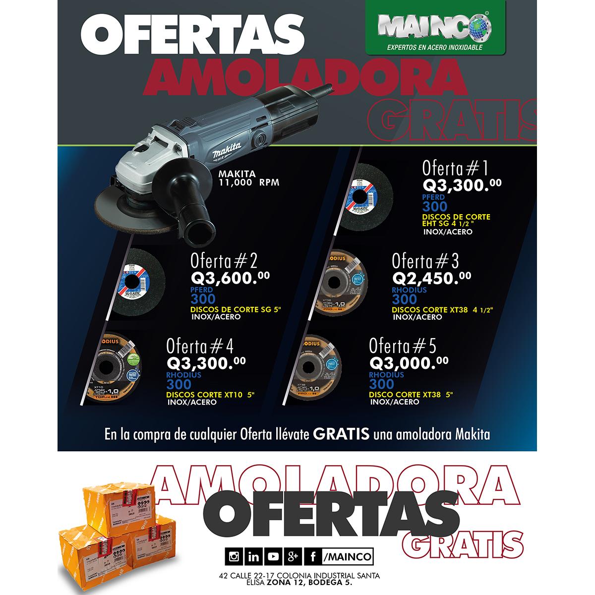 OFERTAS AMOLADORA GRATIS